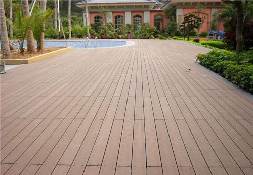 塑木地板是一种新型的家装材料